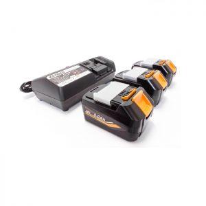 Keyang - BATTPACK186 - Accupack 3x18V 5.0Ah accu + C14439 14.4-18V oplader
